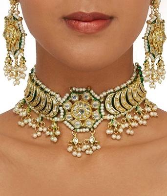 Wedding Premium Gold kundan necklace-sets