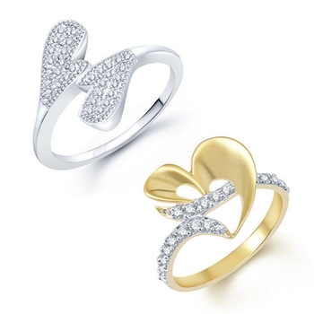 White cubic zirconia jewellery-combo