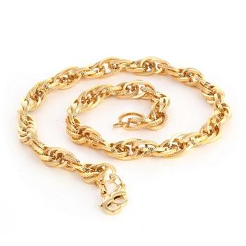Gold diamond collar-necklace