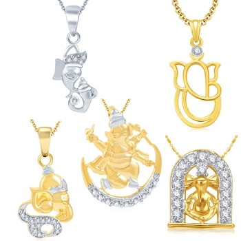 Gold diamond pendants