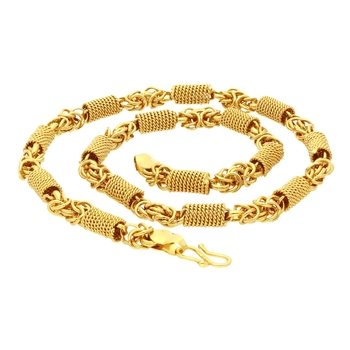 Gold pearl collar-necklace
