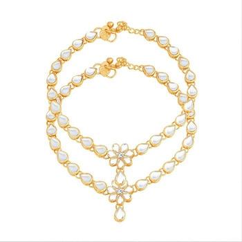 Gold diamond anklets