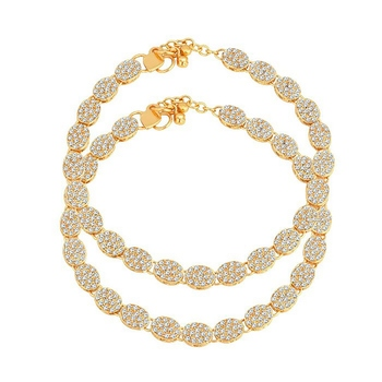 Gold diamond anklets