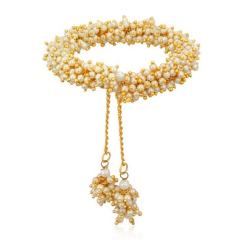 White pearl bangles-and-bracelets