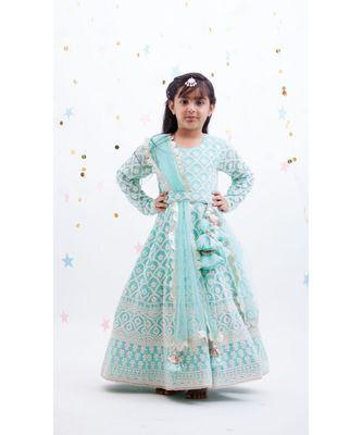 Blue Luckhnawi Anarkali