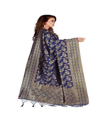 Blue Color jacquard Banarasi silk Dupatta