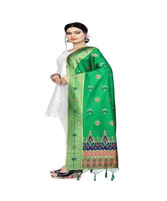 Light Green Color jacquard Banarasi silk Dupatta