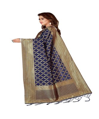 Blue Color jacquard Banarasi silk Dupatta