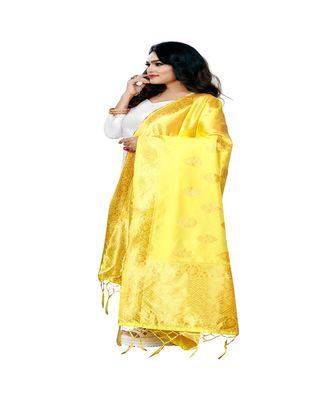 Gold Color jacquard Banarasi silk Dupatta