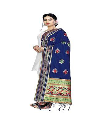 Nevy Blue Color jacquard Banarasi silk Dupatta