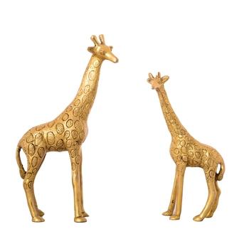 Decorative Brass Giraffe Pair