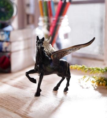 Brass Antique Finish Flying Angel Horse