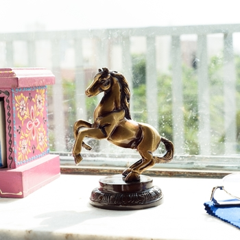 Brass Horse Tableware Antique Showpiece