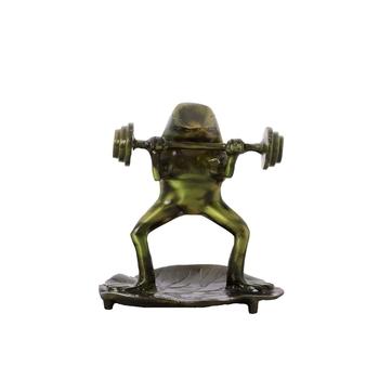 Decorative Brass Bodybuilder Frog