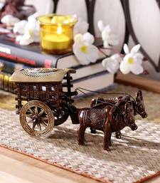Brass Antique Finish Village Bullock Cart