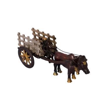 Brass Antique Finish Open Bullock Cart