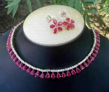 Multicolor Ruby   Chokers