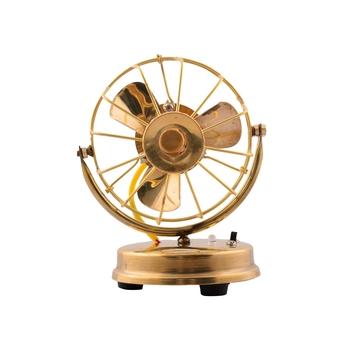 Brass Antique Table Fan Showpiece