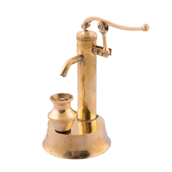 Brass Antique Hand Pump Showpiece