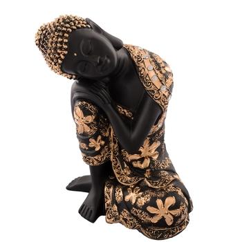 Pleasing Buddha on Knee Polyresin Showpiece