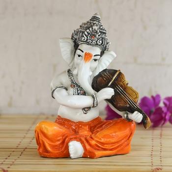 Lord Ganesha playing Violin