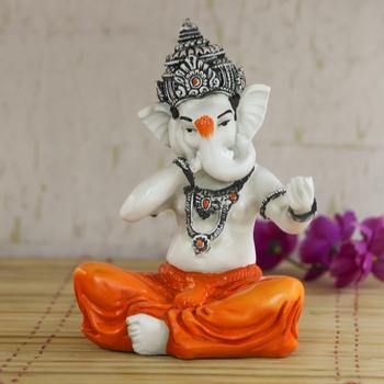 Lord Ganesha Singing Song Decorative Showpiece