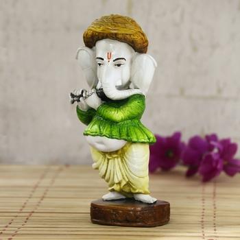 Lord Ganesha playing instument Decorative Showpiece