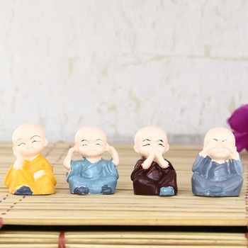 Set of 4 Monk Child Buddhas