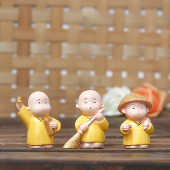 Set Of 3 Monk Babies In Different Avatars