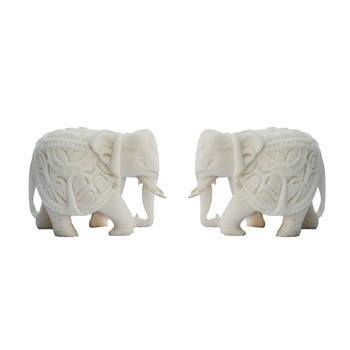Combo of Pure White Elephants