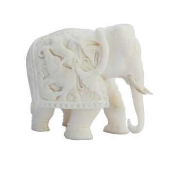 Delicate Pure White Elephant Statue