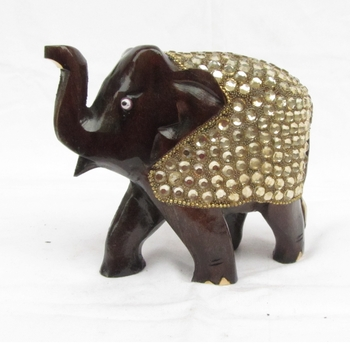 Decorative Elephant coated with Faux Crystals