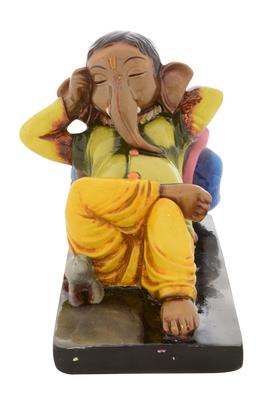 Premium Figurine of Resting Lord Ganesha