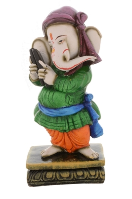 Premium Figurine of Lord Ganesha playing Musical Instrument