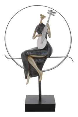 Premium Figurine of Women playing Musical Instrument