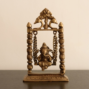 Brass Lord Ganesha on Jhoola