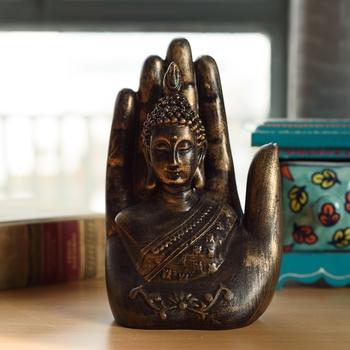 Decorative Palm Buddha Figurine