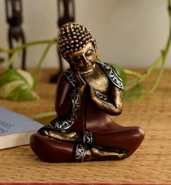 Antique Finish Handcrafted Thinking Buddha
