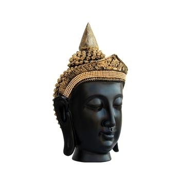 Golden Crown Handcrafted Buddha Head