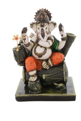 Premium Figurine of Blessing Chaturbhuj Lord Ganesha