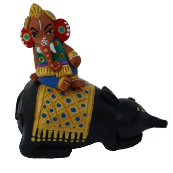 Teracotta Lord Ganesha on Rat