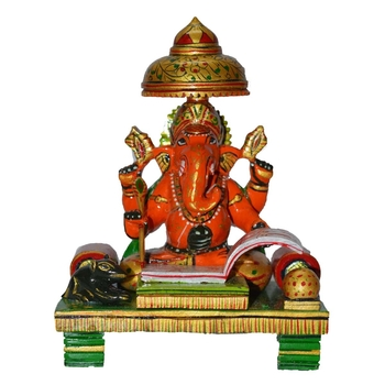 Wooden Colorful Lord Ganesha writing Book