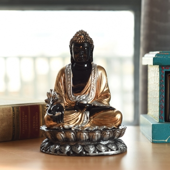 Handcrafted Meditating Blessing Buddha