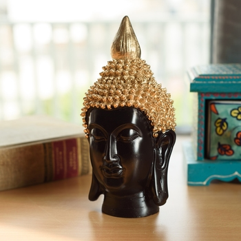 Elegant Gold Hair Buddha Head