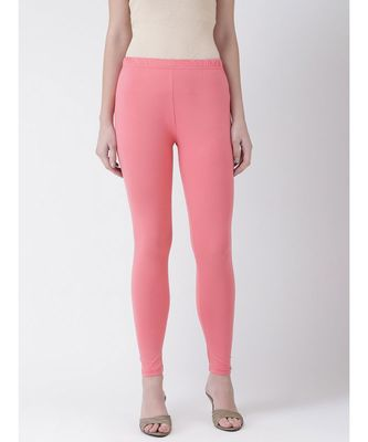 Persian Pink Solid Cotton Lycra Legging