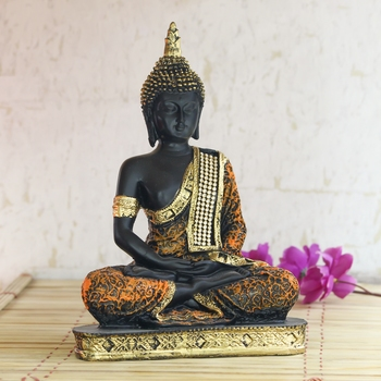 Purple Meditating Buddha Decorative Showpiece