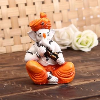 Lord Ganesha Showpiece Playing Kartal