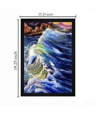 """ORIGINAL TIDES OIL ART PRINT """"Textured Paper (Scratch/Dust) Proof Framed Art Print"""