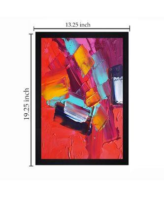 """ORIGINAL OIL ART PRINT """"Textured Paper (Scratch/Dust) Proof Framed Art Print"""