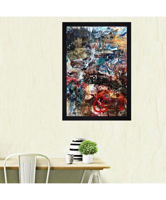 """ABSTRACT ORIGINAL OIL ART PRINT """"Textured Paper (Scratch/Dust) Proof Framed Art Print"""